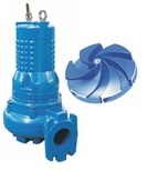 Submersible sewage pumps with Vortex impeller